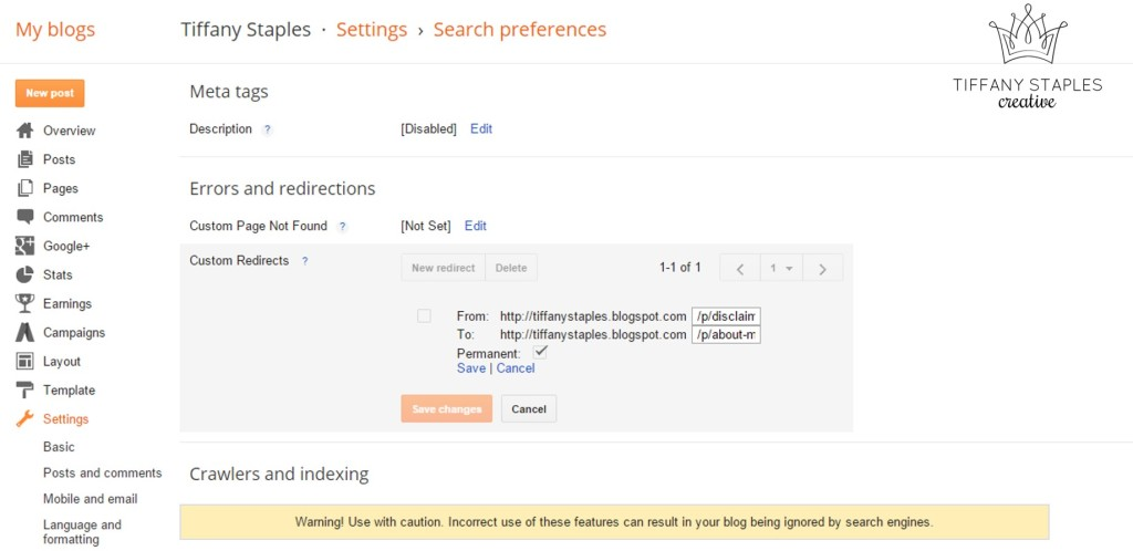 Easy Tutorial for How to Create Custom Redirects for Broken Links with Blogger. Never Send People to a Blank Page Again!