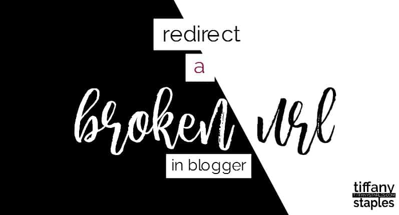 tutorial to redirect a broken url link in Blogger