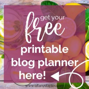 Download Free Printable Blog Planner from Business Consultant Tiffany Staples
