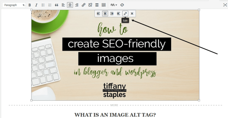 Edit Image to Optimize Your Image Alt Tags in WordPress