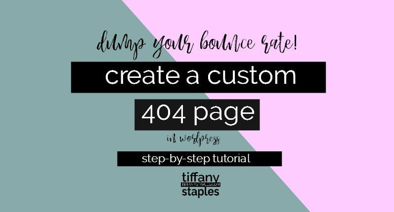 step by step tutorial to lower your bounce rate by creating a custom 404 page with the free 404wordpress plugin