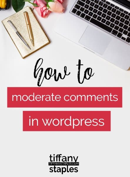 tutorial how to moderate comments wordpress website or blog