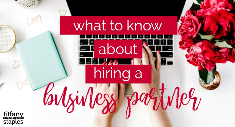 What you need to know about hiring a business partner