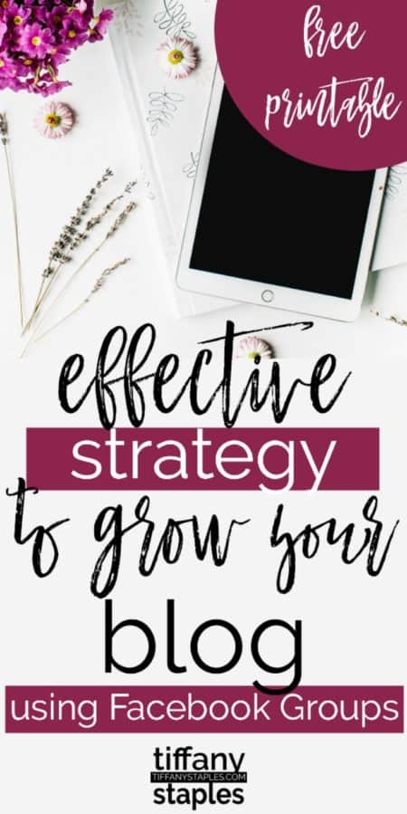 Effectively Grow Your Blog Using Facebook Groups Strategy Free Printable