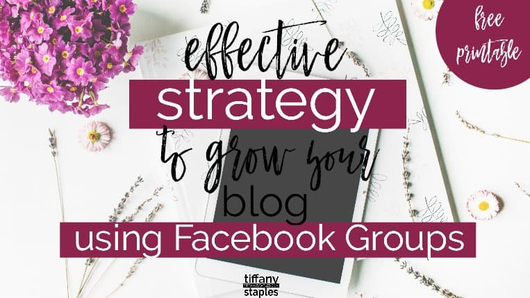 Effectively Grow Your Blog Using Facebook Groups Strategy