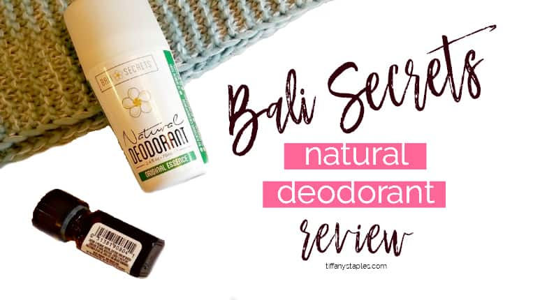 Bali Secrets Natural Deodorant Original Essence Organic Non-Toxic Product Review