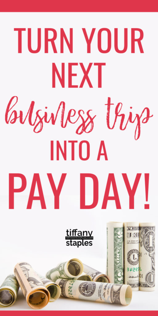 Cash Back from your Business Trip Expenses