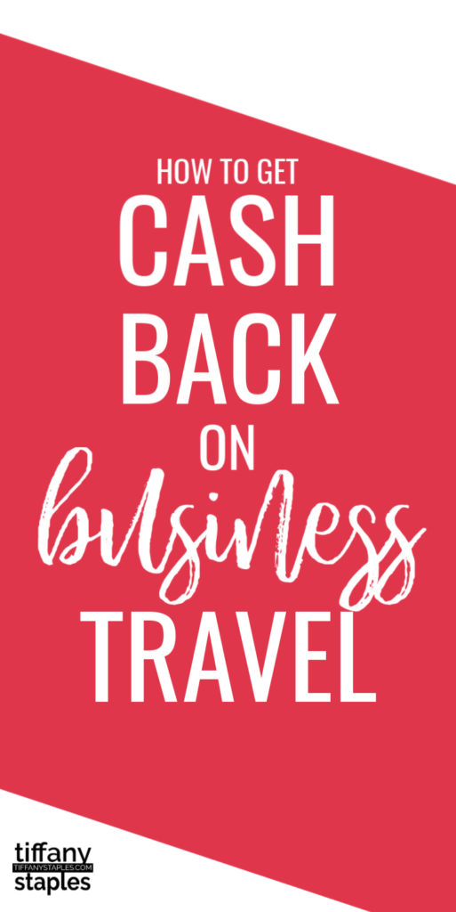 Get cash back on common business expenses from your next business trip.